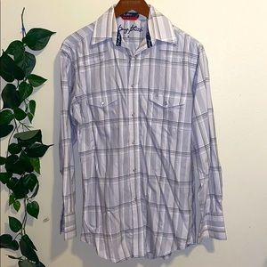 George Strait Button Down Western Shirt Small